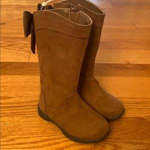 NWT-Toddler Girls Kenneth Cole Dolly Bow Tall Boot
